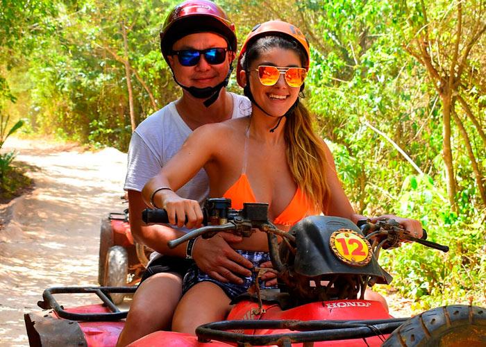 Paquete 3 Isla Mujeres + ATV Doble + Tirolesa