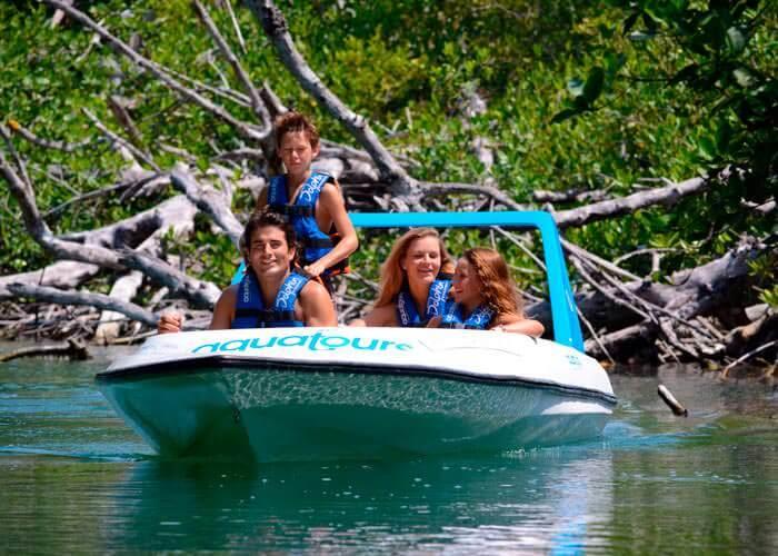 jungle-tour-express-cancun-bote