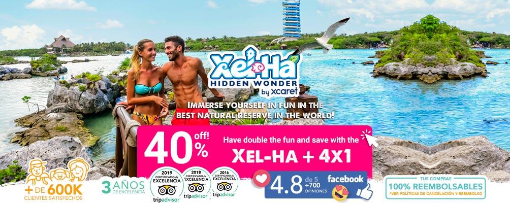 Couple enjoy Xel Ha park