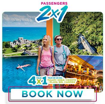Spring Breack special deal 2x1 Tulum + Coba + Cenotes + Playa del Carmen