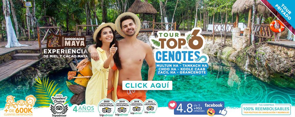 Tour de 6 cenotes en Cancún y Riviera Maya