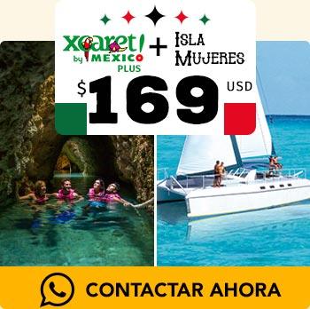 Tour xcaret plus jovenes divirtiendose pase en catamaran en isla mujeres