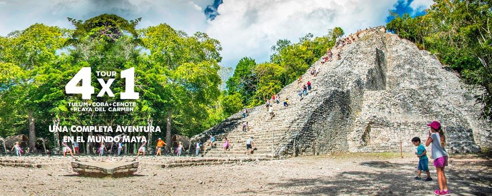 Foto del Templo Maya Nohoch Mul en Coba