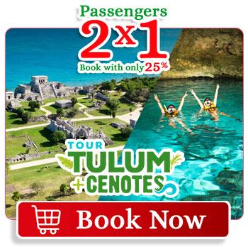 Spring Breack special deal 2x1 Tulum Cenotes Aktun Chen Tour