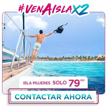 Tour a Isla Mujeres en Catamarán al 2x1 Promociones Buen Fin