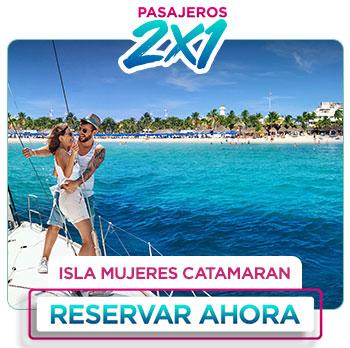 Paseo en Catamarán con barra libre en Isla Mujeres Srping breack