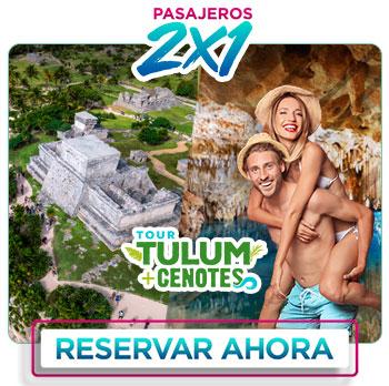 tour 2x1 Zona Arqueologica piramide de Tulum y Snorkel subterraneo Aktun Chen