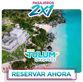 Zona arqueológica de Tulum tour 2x1