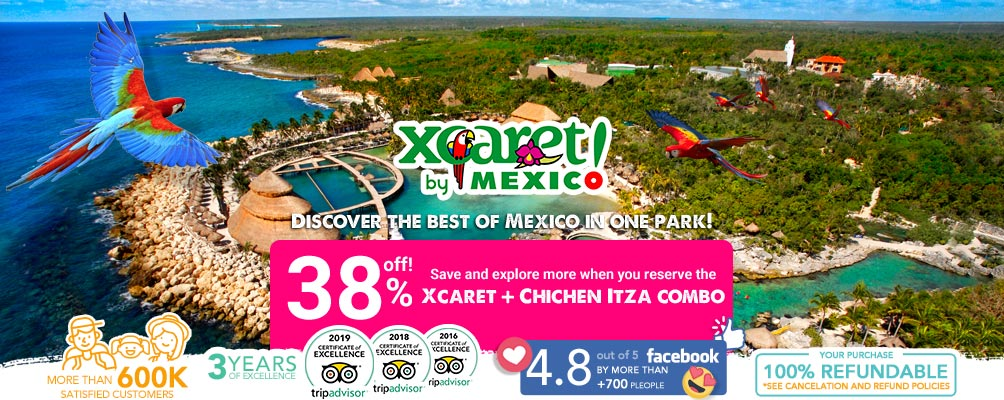 Panoramic view of Xcaret