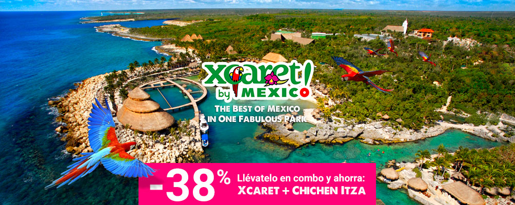 Panoramic photo of Xcaret Park