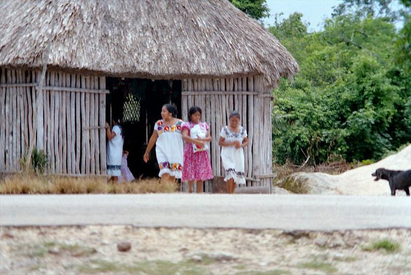 Casas tradicionales mayas en Cobá
