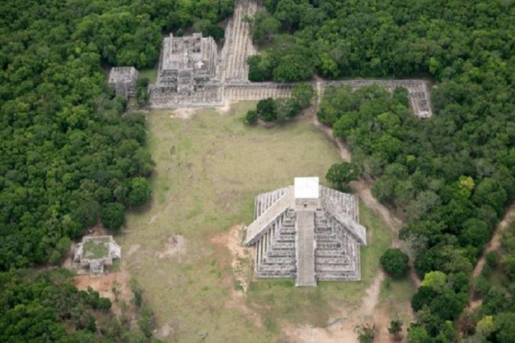 Vista aérea de la zona Chichén Itzá