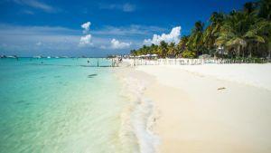 Playa caribe de Isla Mujeres