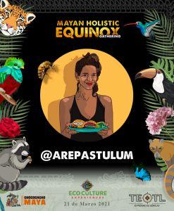 poster participante de equinoccio en Cobá