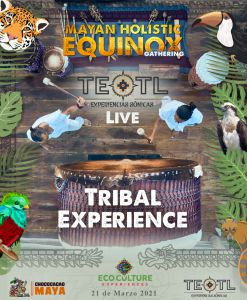Musica tribal en equinoccio en Cobá