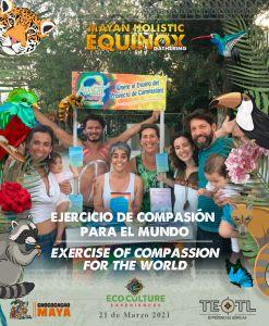 Participantes del equinoccio 2021 en Cobá