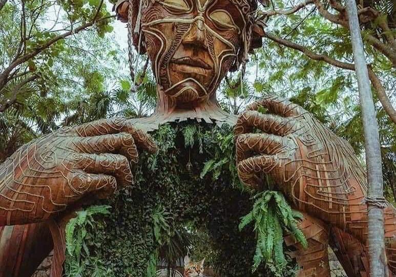 Estatua ven a la luz en Tulum