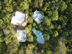 vista aerea de hotel en tulum