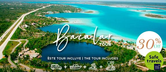 Bacalar tour aerial view